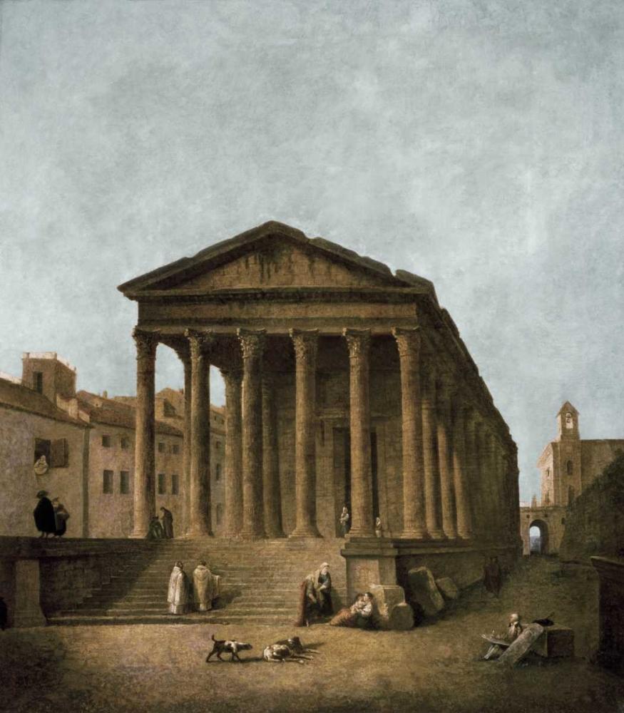 Temple of Augustus in Nimes, 1783 Robert, Hubert 93664