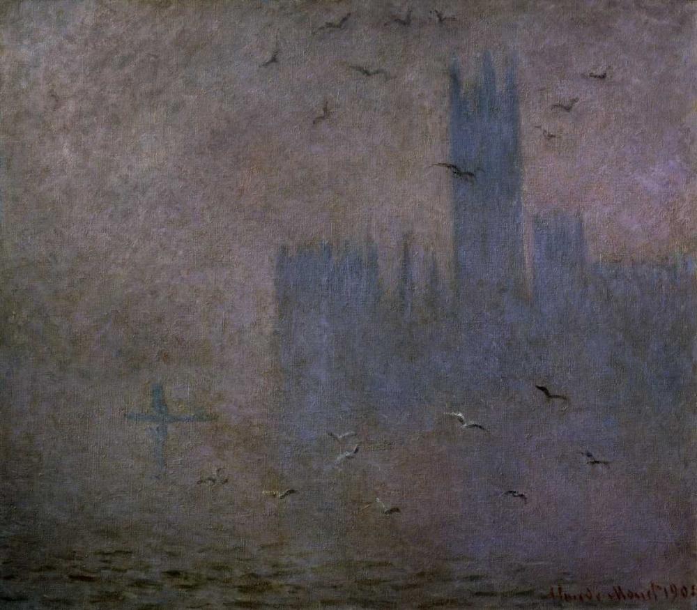 Houses of Parliament, Seagulls, 1904 Monet, Claude 93611