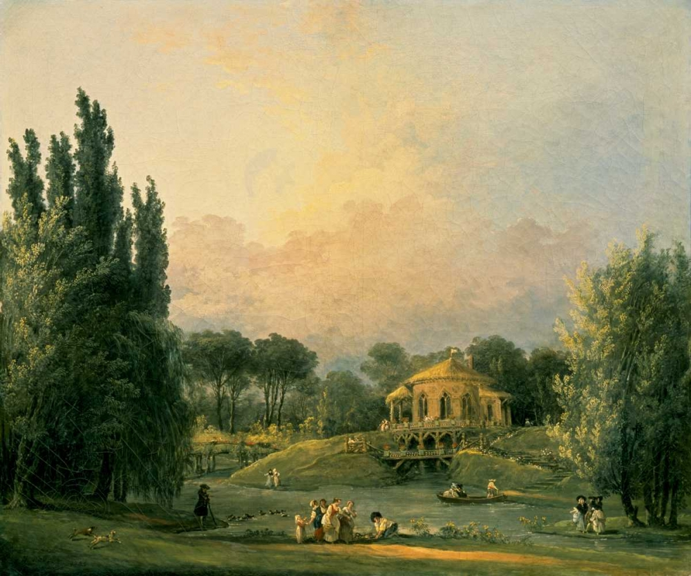 Italian Tempietto in a Park Robert, Hubert 93670
