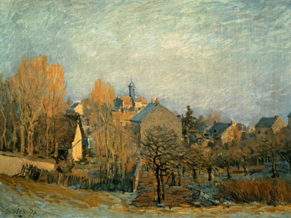 Little Town on the River Seine, 1872 Sisley 93860