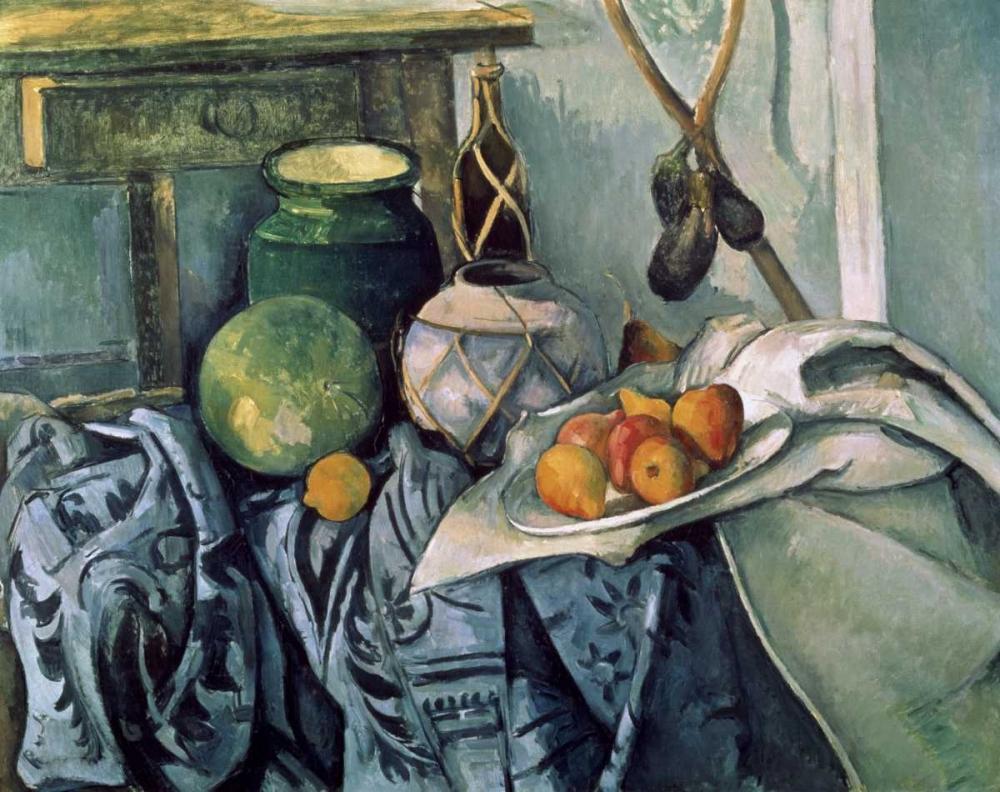 A Still Life Aubergines Cezanne, Paul 94092