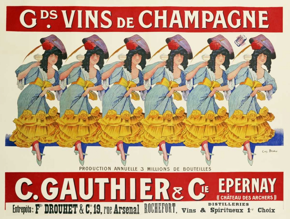 Gds Vins De Champagne, C. Gauthier and Cie Brau, Casimir 88780