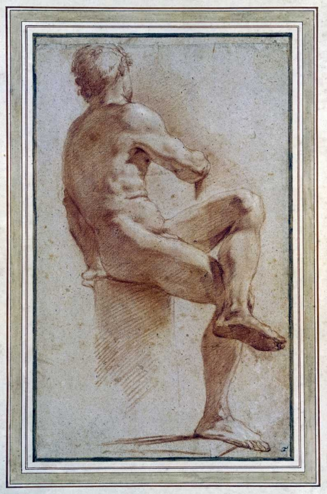 A Male Nude Seated With His Back Turned Carracci, Annibale 88796