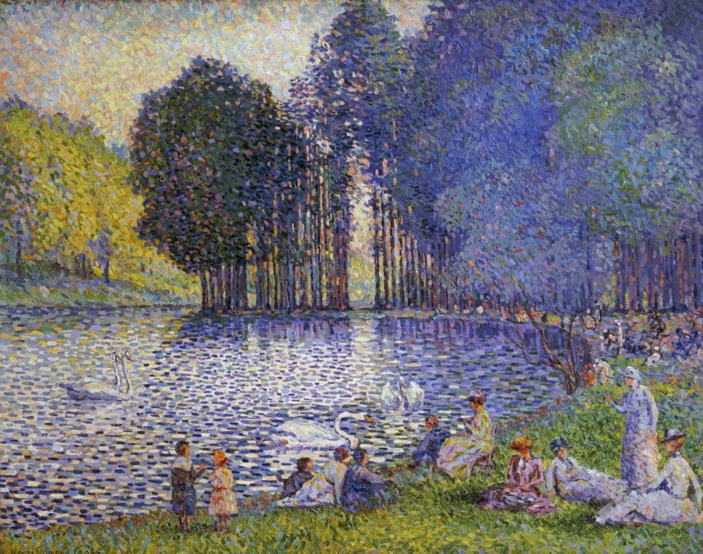 The Lake In The Bois De Boulogne Cross, Henri Edmond 88835