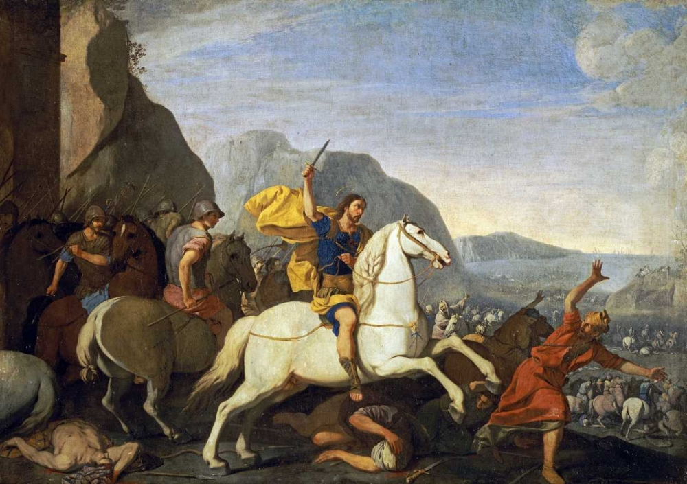 Saint James at The Battle of Clavijo Falcone, Aniello 88882