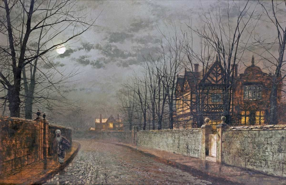 Old English House, Moonlight After Rain Grimshaw, John Atkinson 88911