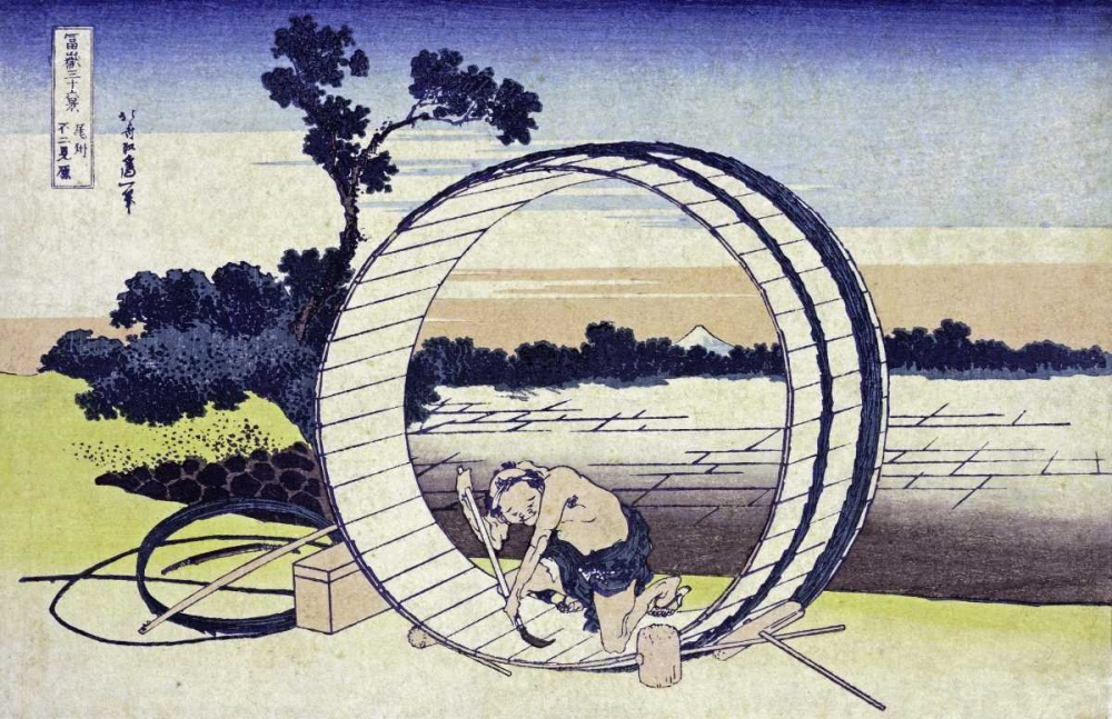 Fields In Owari Province Hokusai 88948