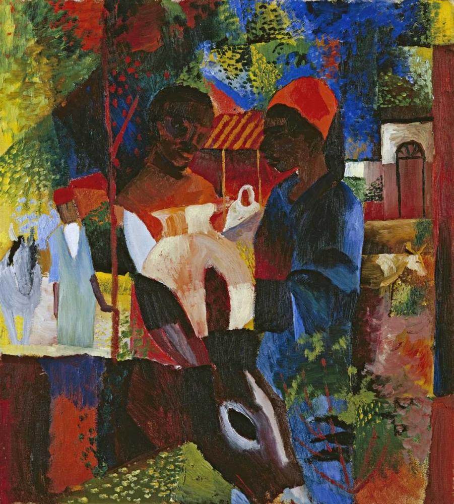 A Market In Tunis Macke, August 88986