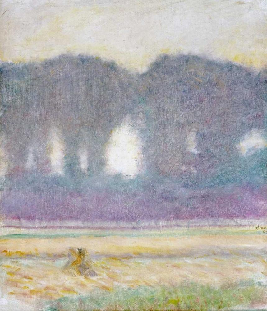 Fir Trees and a Corn Field Macke, August 88987