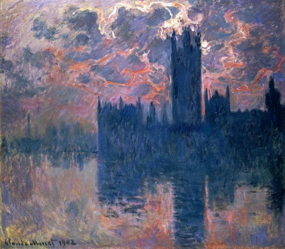 Parliament, Sunset Monet, Claude 89055