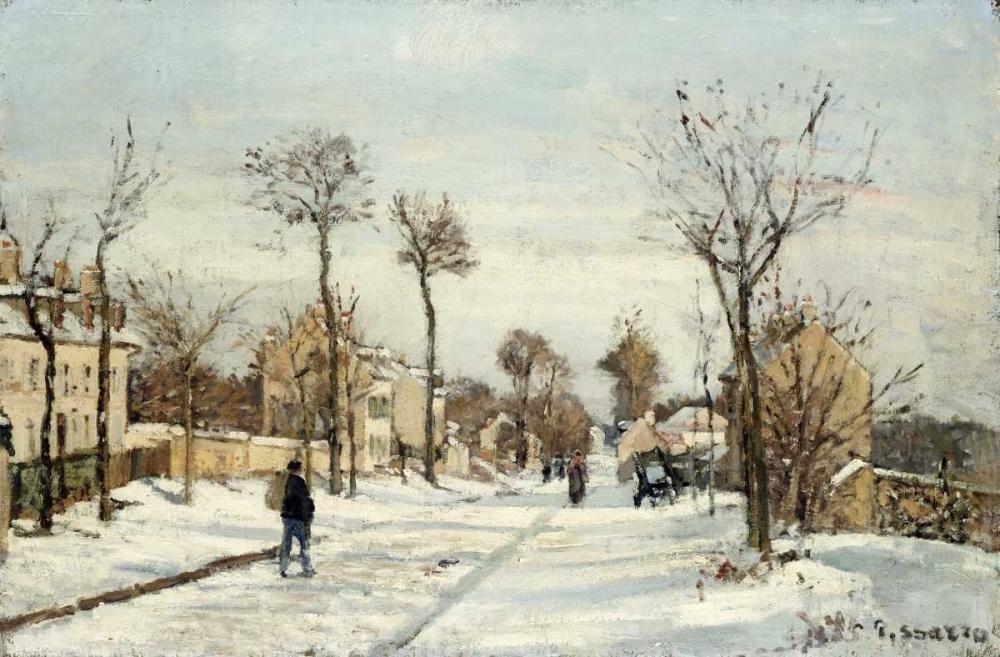 Snowy Road, Louveciennes Pissarro, Camille 89115