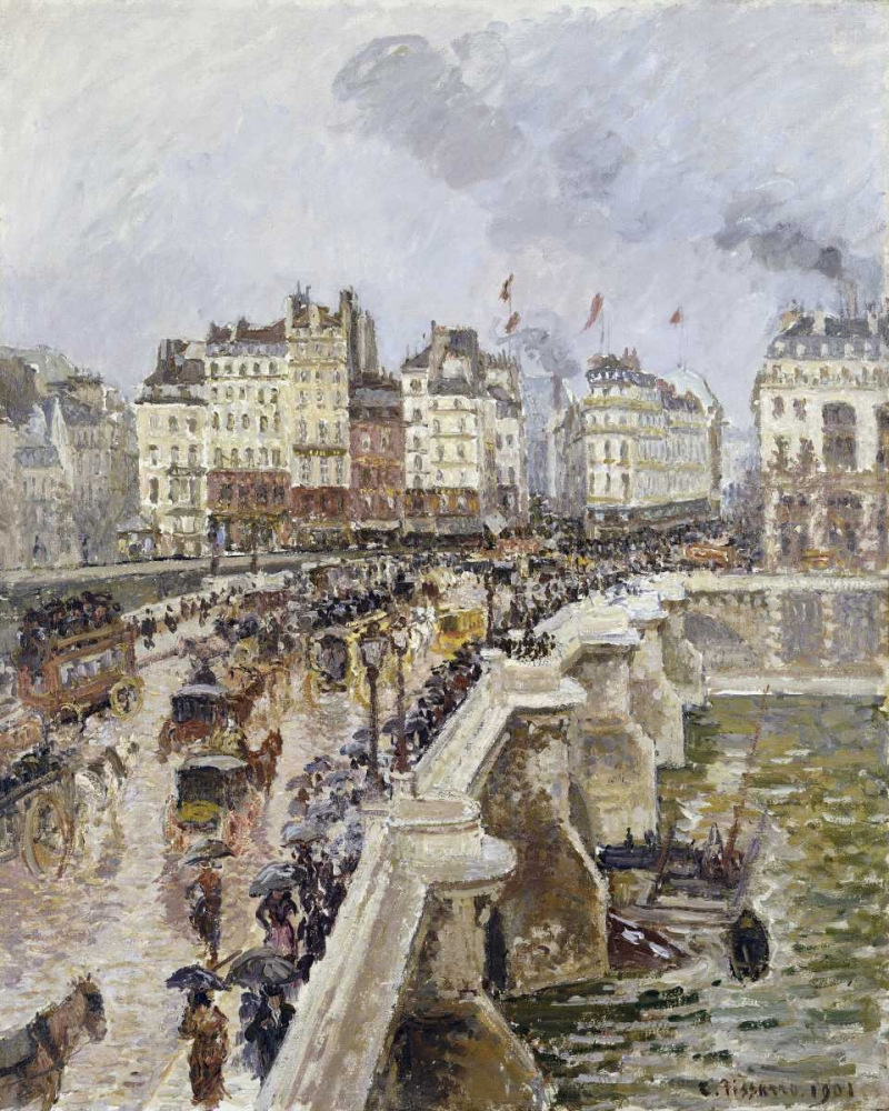 The Pont Neuf On a Rainy Afternoon Pissarro, Camille 89123