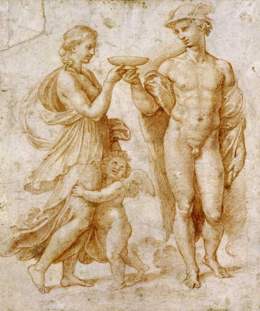 Mercury Offering The Cup of Immortality To Psyche Raphael 89131