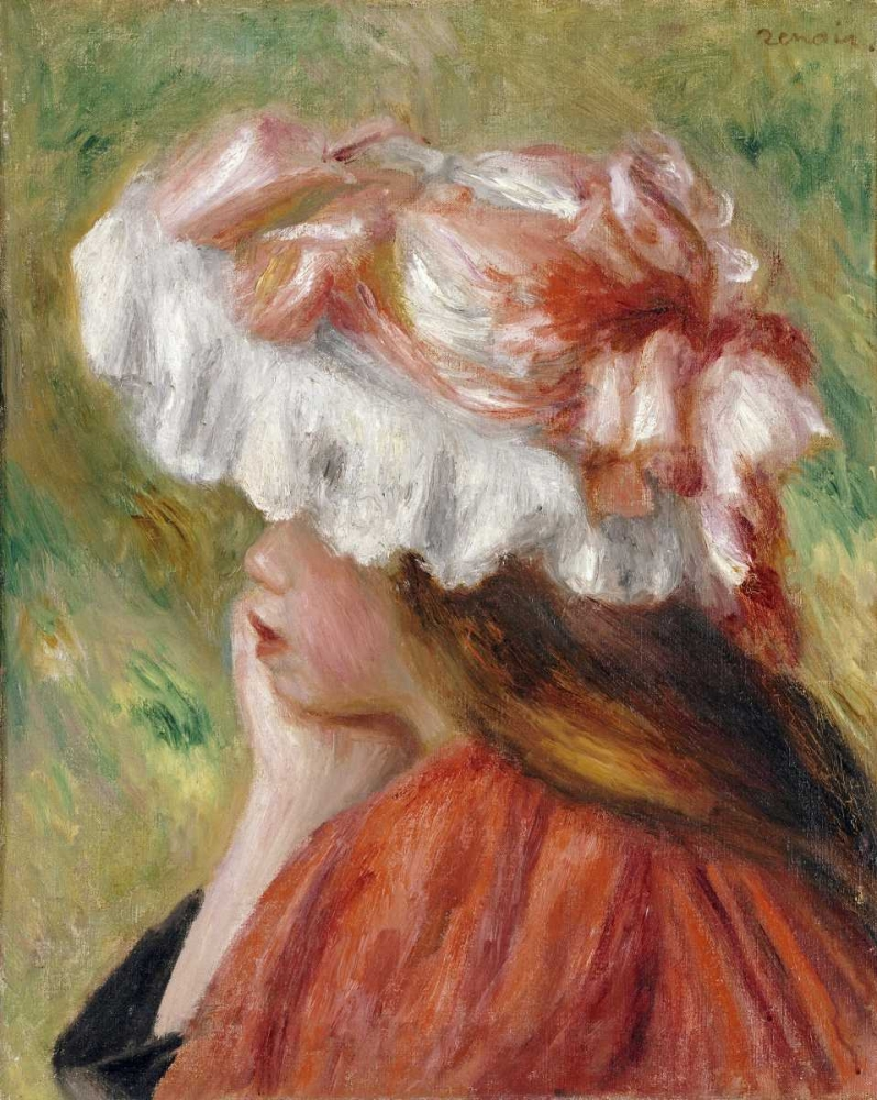 Head of a Young Girl In a Red Hat Renoir, Pierre-Auguste 89153