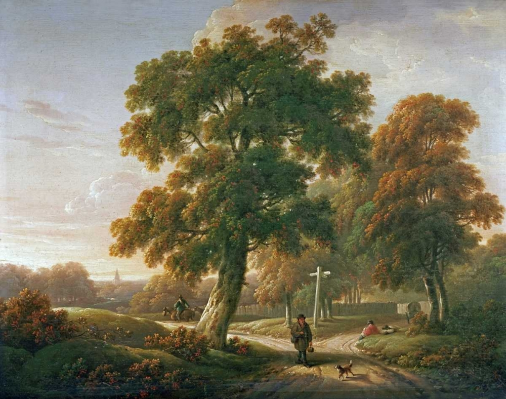 Travellers at a Crossroads In a Wooded Landscape Towne, Charles 89251