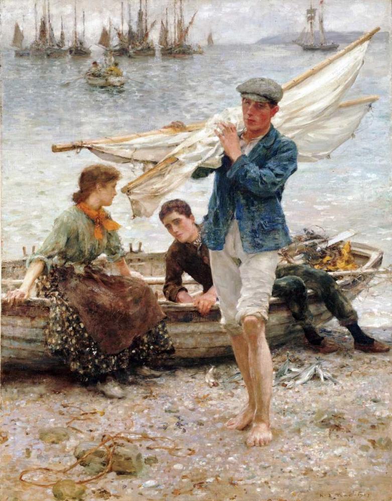 Return From Fishing Tuke, Henry Scott 89254