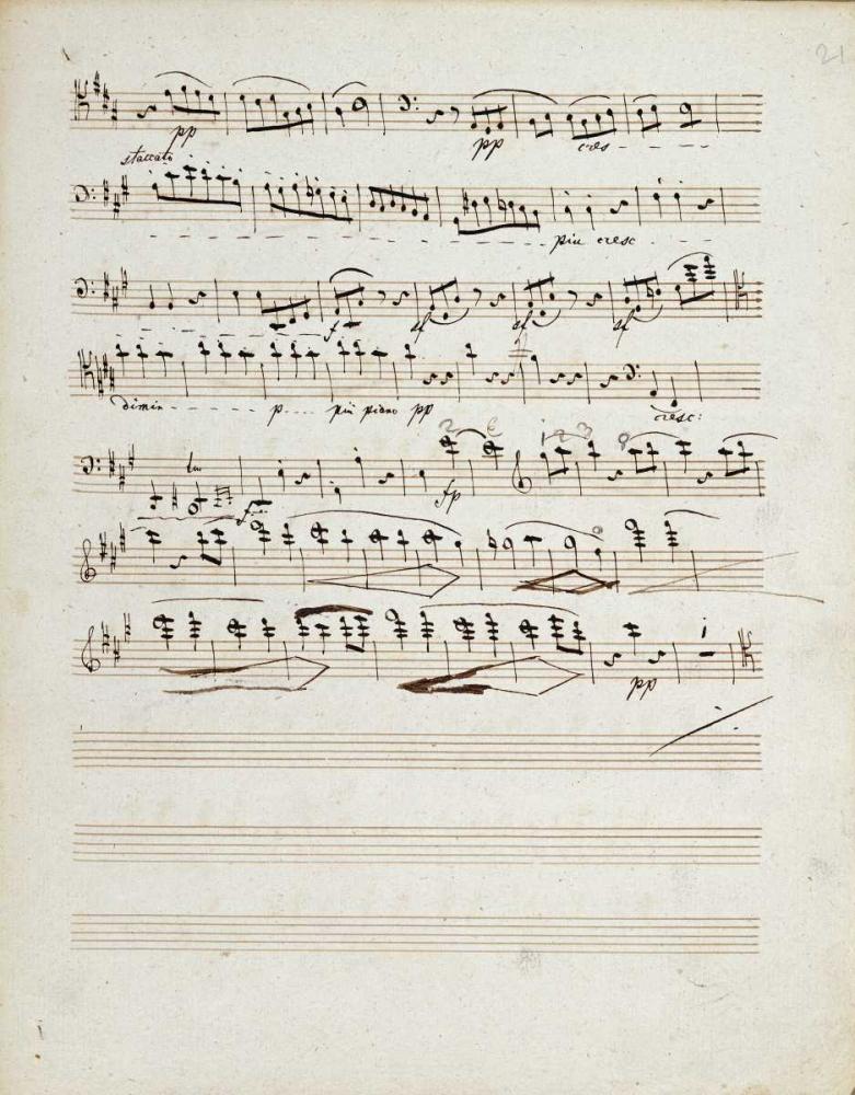 Manuscripts of The Quartet In a Minor Opus 132 Beethoven, Ludwig Van 89281