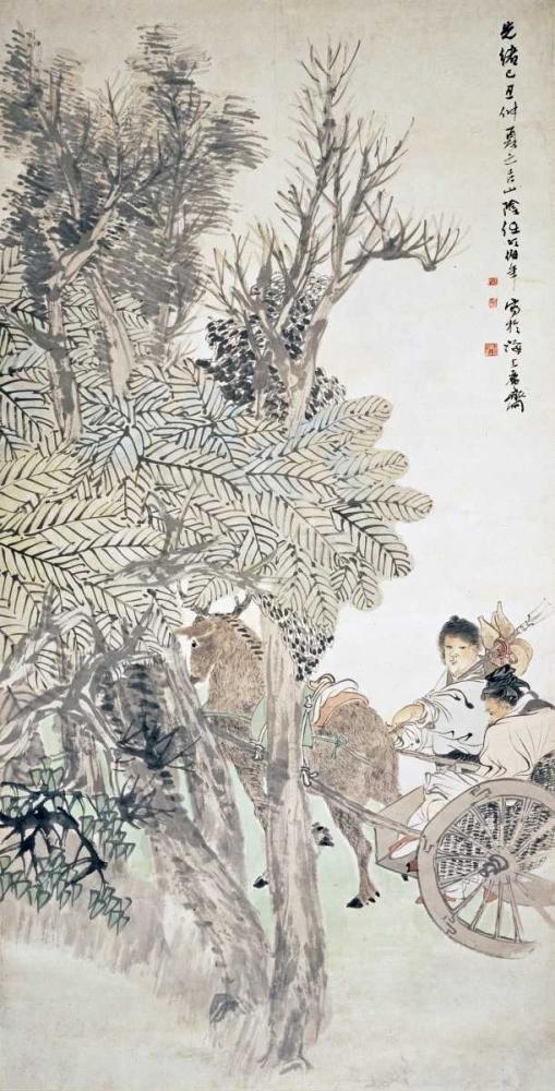 Deer Pulling a Chariot Yi, Ren 89332