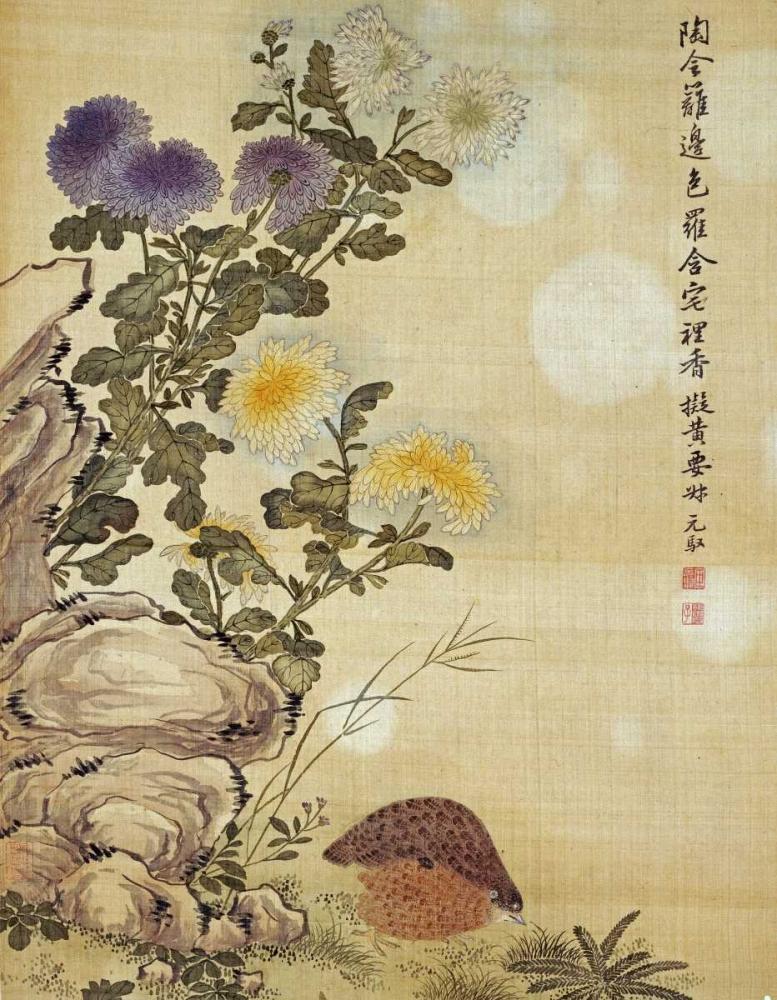 Chrysanthemums and Quail Yuanyu, Ma 89335
