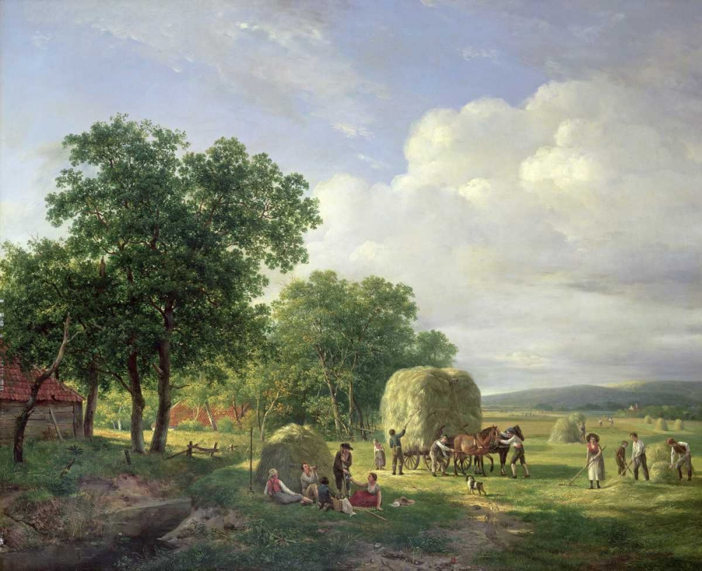 A Wooded Landscape With Haymakers Van De Sande Bakhuyzen, Hendrik 89362