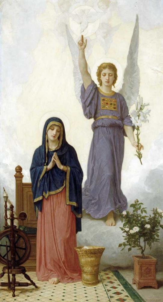 The Annunciation Bouguereau, William-Adolphe 89408