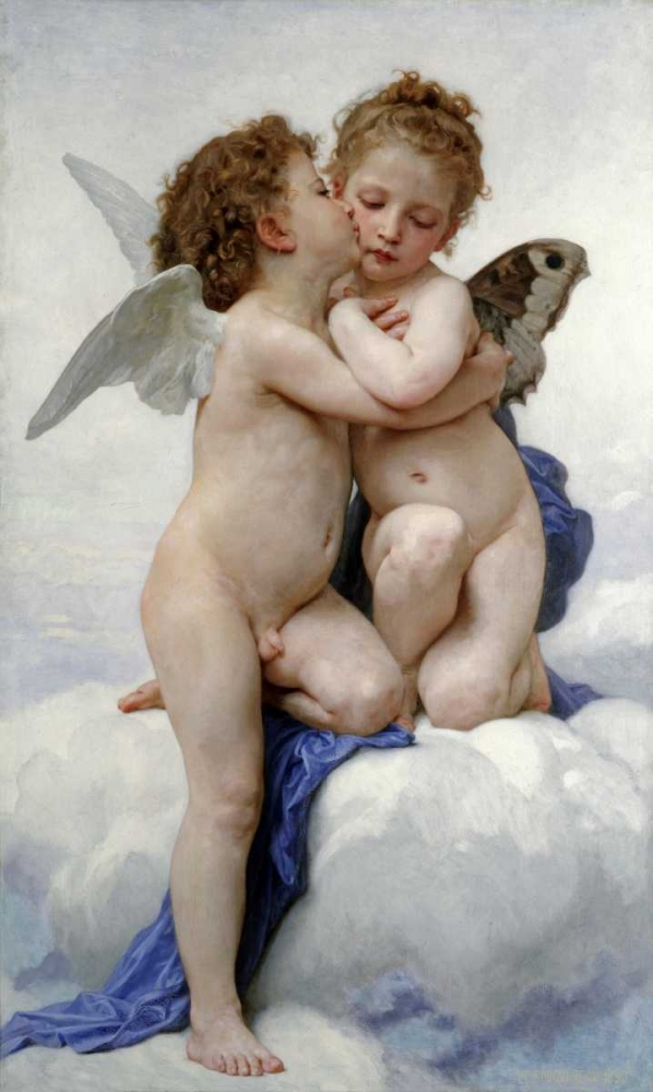 The First Kiss Bouguereau, William-Adolphe 89410
