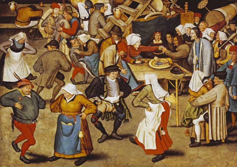 The Indoor Wedding Dance Bruegel, Pieter the Elder 89423