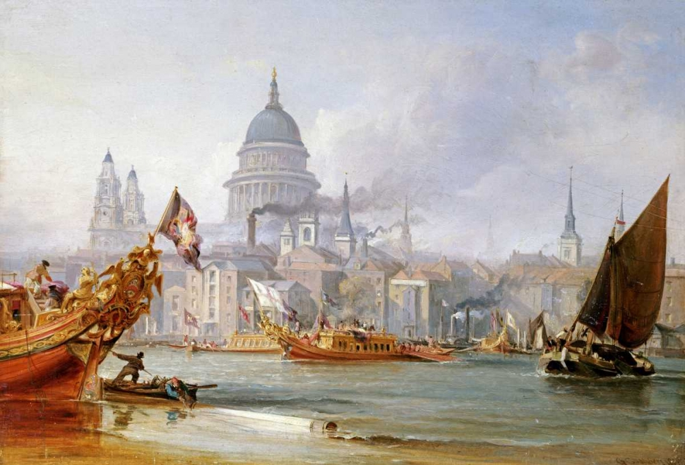 A View of Saint Pauls From The Thames Chambers, George 89450