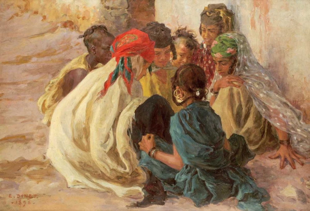 Arab Children Playing Dinet, Alphonse Etienne 89529