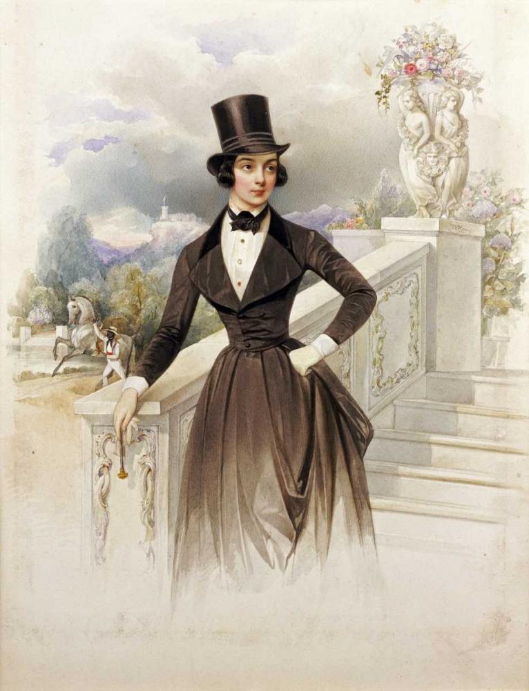 Lady In Riding Habit Hau, Wilhelm 89653