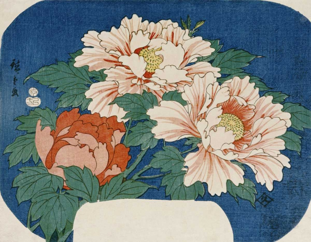 Three Stems of Peonies Hiroshige 89669
