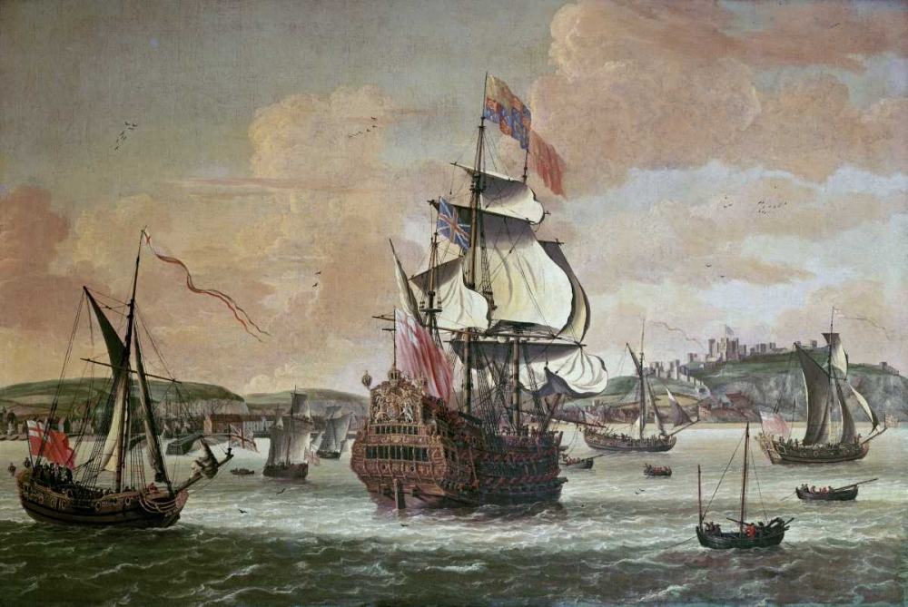 Charles II On Board a Two Decker Man-O-War Knijff, Jacob Knyff 89724