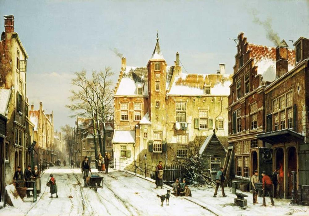 A Dutch Village In Winter Koekkoek, Willem 89727