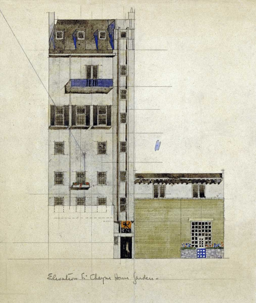 London, Elevation of Proposed Studio, 1920 Mackintosh, Charles Rennie 89786
