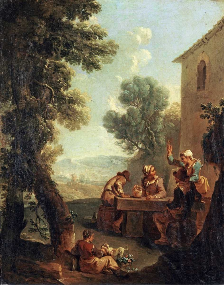 Peasants Drinking By a Farmhouse Monaldi, Paolo 89835