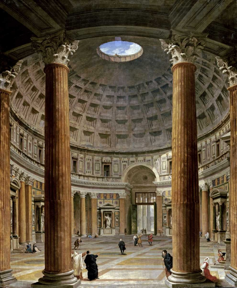 The Interior of The Pantheon, Rome Panini, Giovanni Paolo 89869
