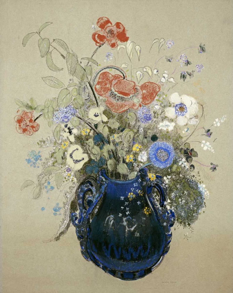 A Vase OF Blue Flowers Redon, Odilion 89915