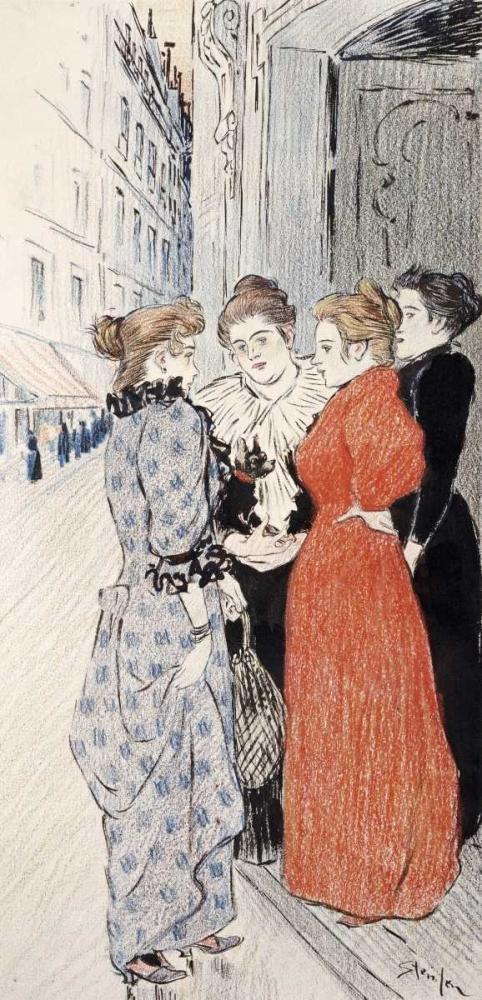 Women Conversing In The Street Steinlen, Theophile 90027