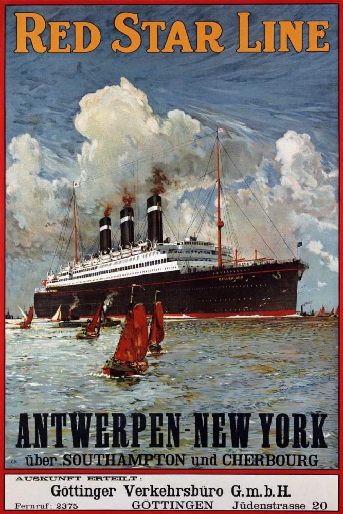 Red Star Line, Antwerpen-New York Unknown 90070