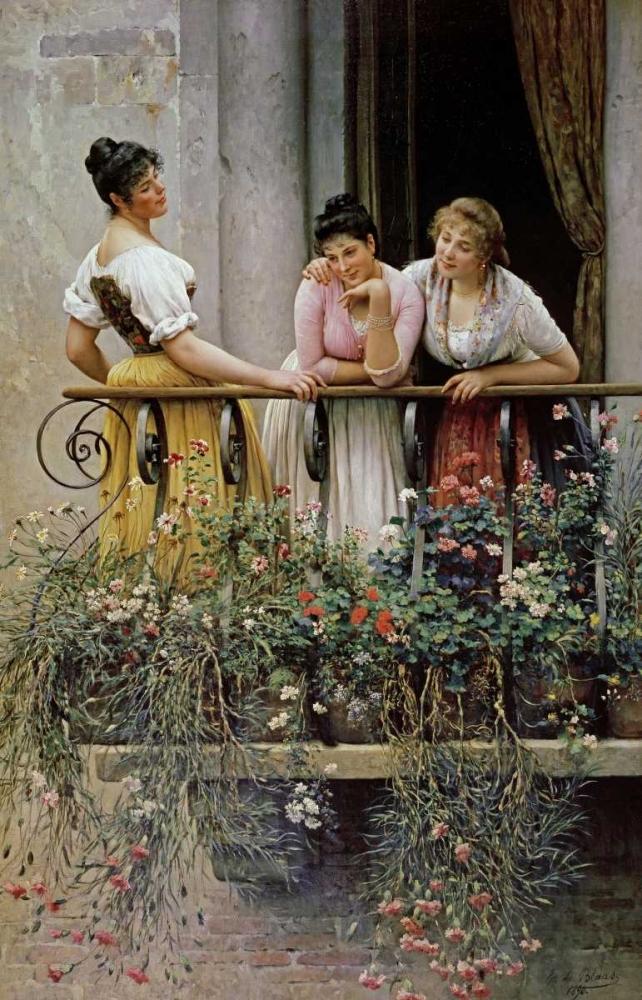 The Balcony Von Blaas, Eugene 90115