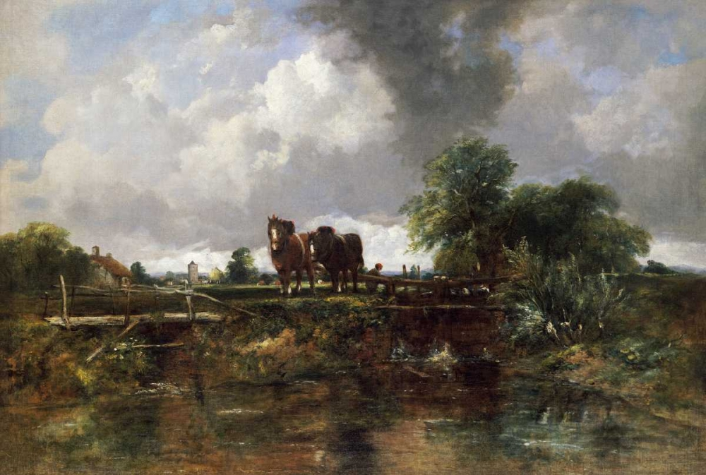A Wooded River Landscape Watts, Frederick Waters 90125