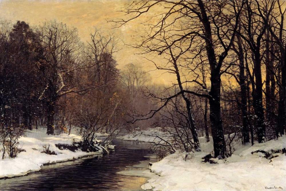 A Winter River Landscape Anderson-Lundby, Anders 90160