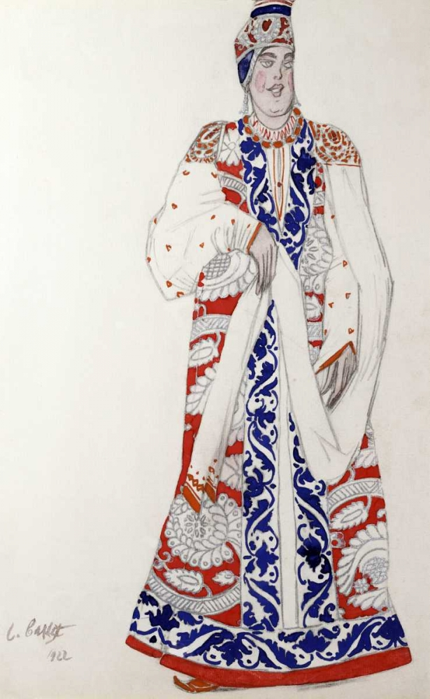 Costume Design For The Production Moskwa Bakst, Leon 90171