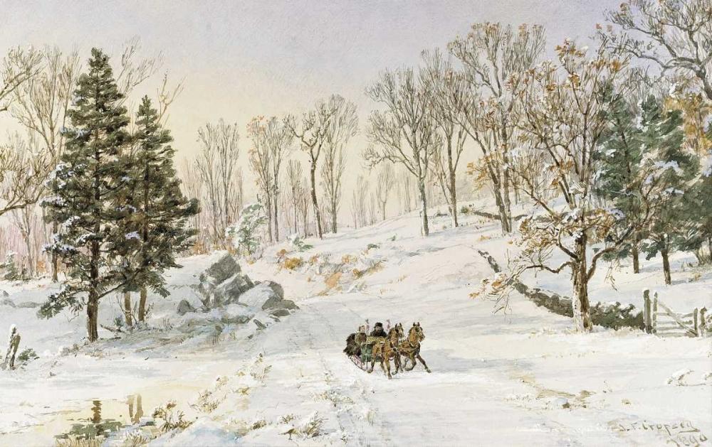 Winter on Ravensdale Road, Hastings-On-Hudson, New York Cropsey, Jasper Francis 90298