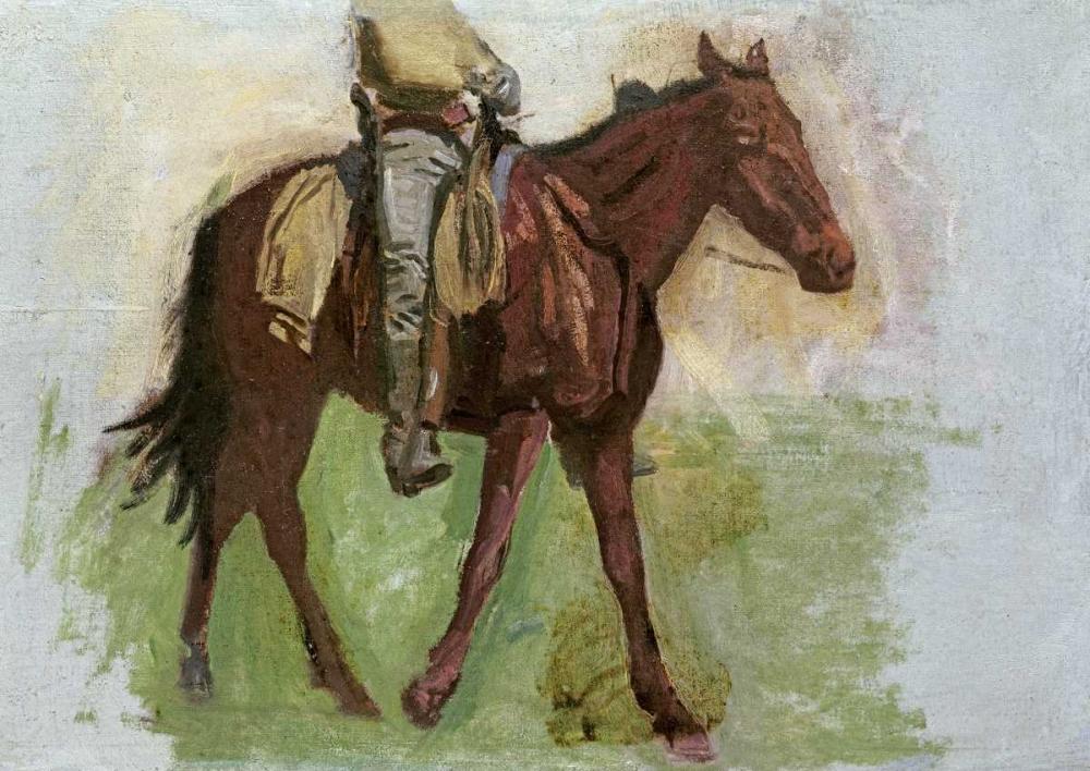 Sketch For Cowboys In The Badlands Eakins, Thomas 90324