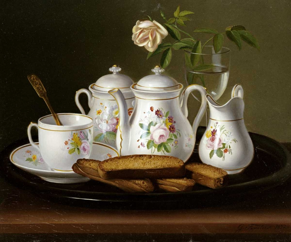 Still Life of Porcelain and Biscuits Forster, George 90341