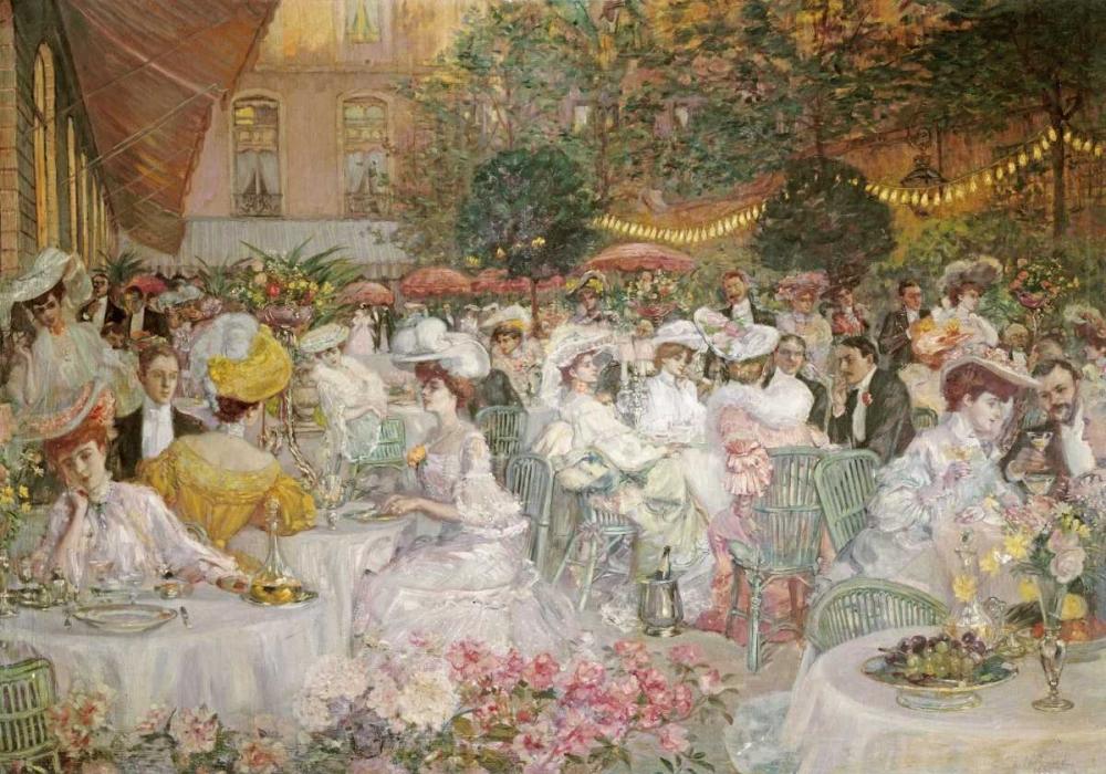 A Restaurant Terrace French School 90347