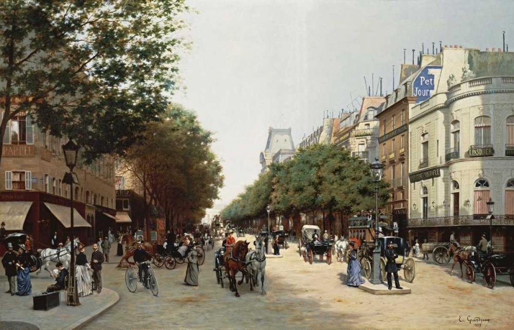 Le Boulevard Des Italiens, Paris Grandjean, Edmond Georges 90364