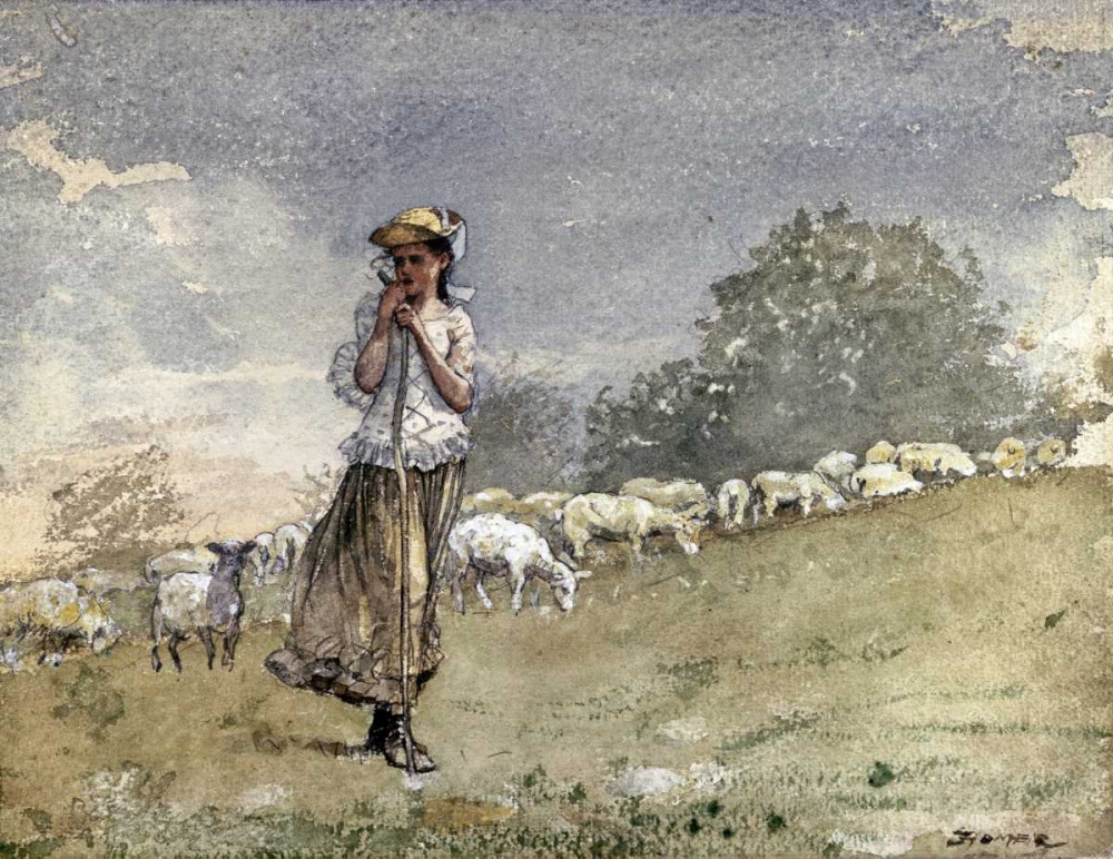Tending Sheep, Houghton Farm Homer, Winslow 90414