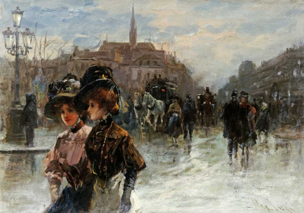 A Street Scene With Elegant Ladies, Paris Lugi, Max 90471